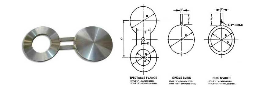 ANSI/ASME B16.5/B16.47 Spectacle Blind Flanges
