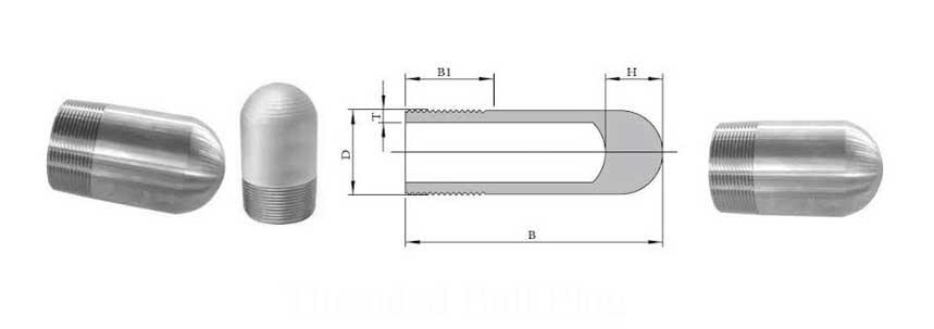 ASME B16.11 Screwed / Threaded Bull Plug Manufacturer