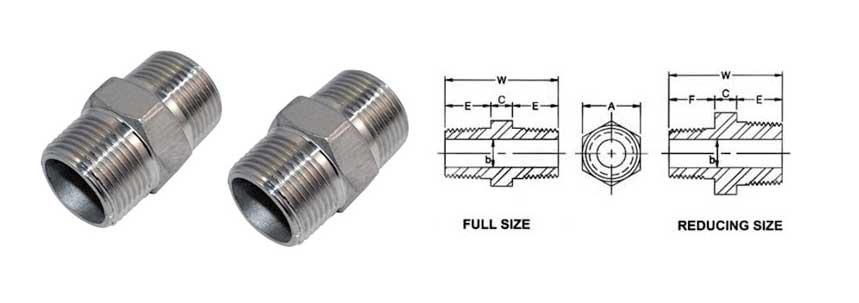 ASME B16.11 Screwed / Threaded Hex Nipple Manufacturer