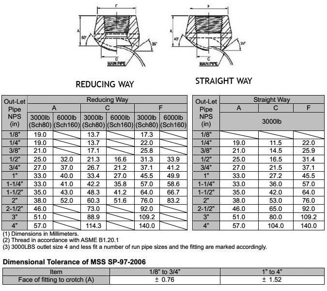ASME B16.11 Screwed / Threaded Branch Outlet Manufacturer