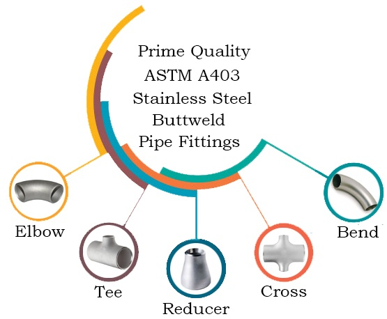 Prime Quality ASTM A403 Stainless Steel Buttweld Pipe Fittings